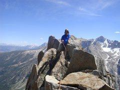 Rock Climbing Photo: Ed Hartouni on the summit of the North Warren Towe...