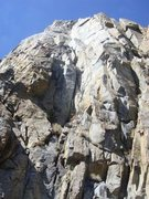 Rock Climbing Photo: Looking up the first pitch of the Gabel-Hartouni r...