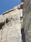Rock Climbing Photo: 2nd pitch of the Gabel-Hartouni on the North Warre...