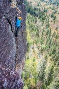 Rock Climbing Photo: Fin de combat de la première ascension!