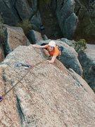 Rock Climbing Photo: Karise following Joint Effort