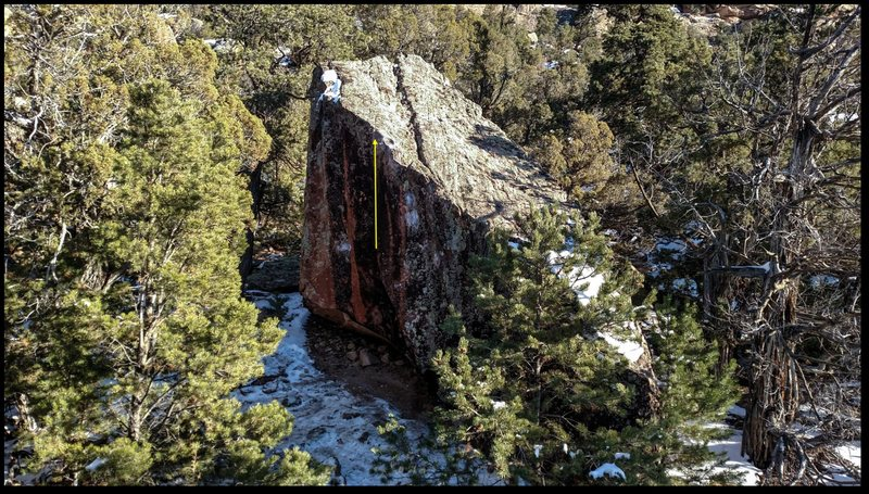 Rock Climbing Photo: Holy Shit beta.