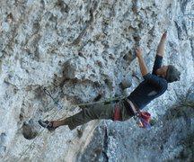 Rock Climbing Photo: Kris, firing the freakin rig.
