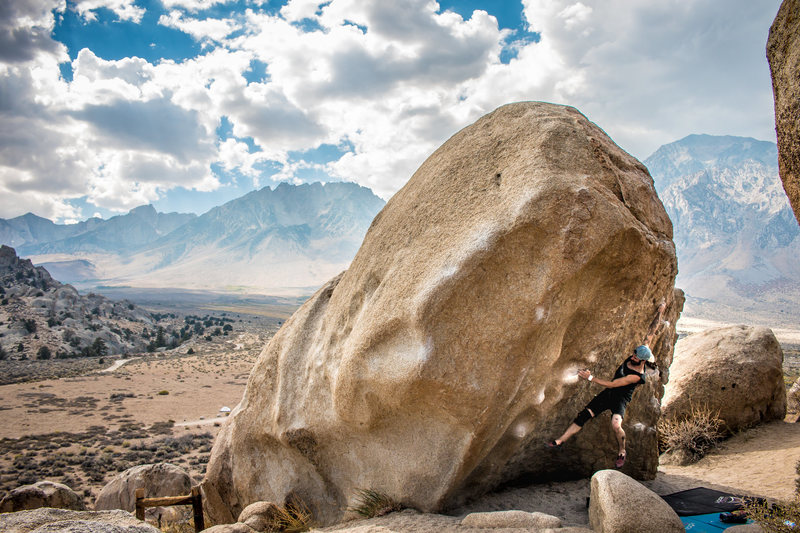 Rock Climbing Photo: Nicholas Rondilone catching the big throw on Rib, ...