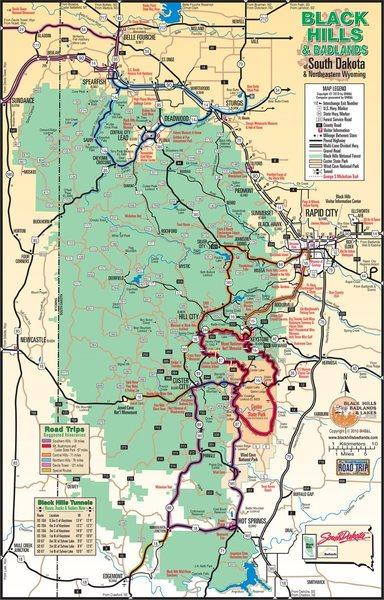 Rock Climbing Photo: Black Hills Map