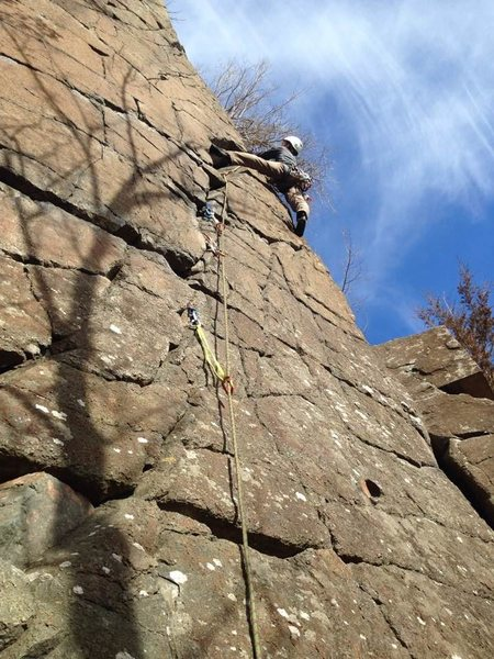 Happy to be on the sharp end early in 2017. Coming out of the pod on Keyhole 5.6 - Interstate Park - MN