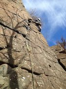 Rock Climbing Photo: Happy to be on the sharp end early in 2017. Coming...