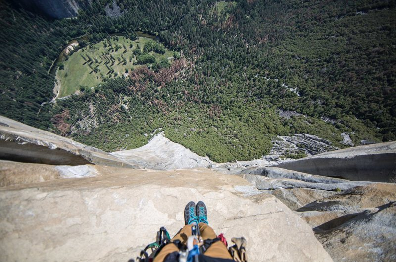 Rock Climbing Photo: The view from Tower to the People.