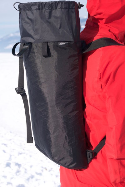 VX-21 Pack with open shroud extension, Metal G-hook rope catch.