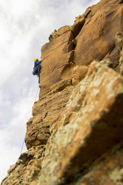 Rock Climbing Photo: Local Montrosian Jeremy Trujillo getting some real...