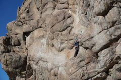 "To the right of the ""thin flake crux"" mentioned in the photos of Cartoon Watcher."