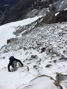 """4th class"" ice-covered ""rock"" climbing = ""mixed scrambling"""