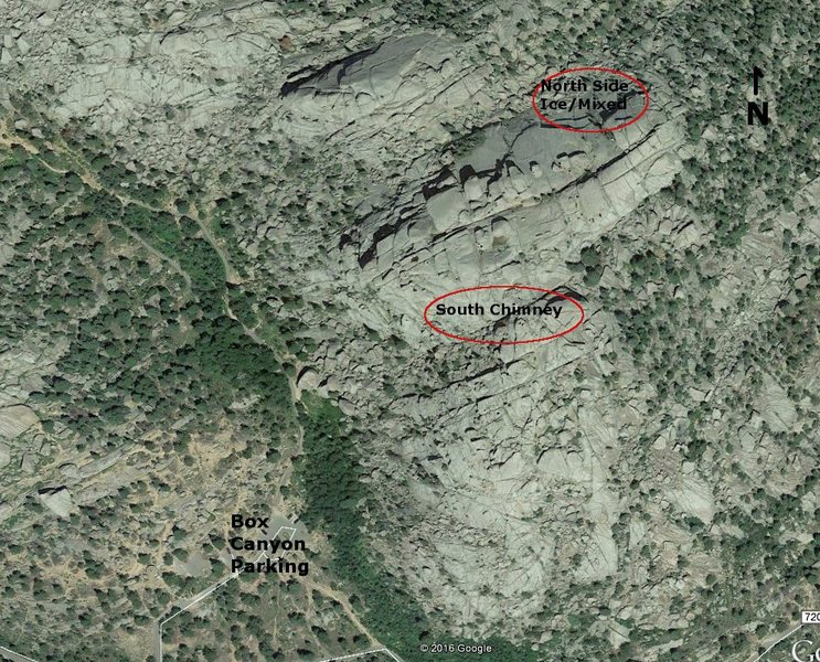Rock Climbing Photo: Overview of MRC ice/mixed areas.