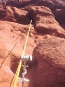 after rope soloing the flow i thought it would be fun to try and free climb... except i broke a hold and pulled a bunch of gear