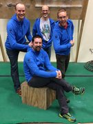 Wisconsin area admins sporting their new hoodies at a meeting of the Wisconsin Climbers Association last weekend.