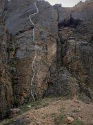 Rock Climbing Photo: Diamond in the Tuff topo