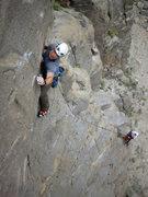 Rock Climbing Photo: Weston pulling the crux