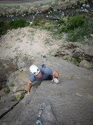 Rock Climbing Photo: Weston on the upper arete.