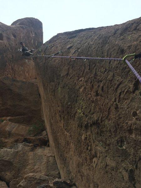 Rock Climbing Photo: After finishing up. Rad climb! Blew my onsight, bu...