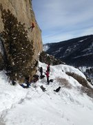 Rock Climbing Photo: Snowy Scud