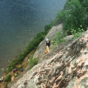 Rock Climbing Photo: near the chains on The Shadow. a stiff route for 1...