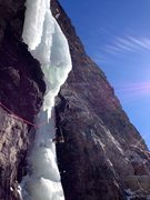 Rock Climbing Photo: Will Carey on the crux ice pitch of The Arding Slo...