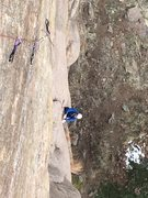 Rock Climbing Photo: Brent following TRGEO.