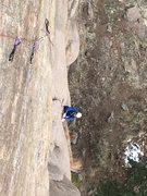 Rock Climbing Photo: Brent following TRGEO.