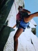 "Rock Climbing Photo: Fletcher Wilson on the 4th pitch of ""Cerro K&..."