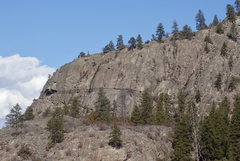 Rock Climbing Photo: Banded Wall from the south
