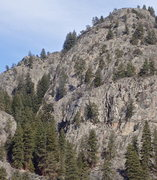 Rock Climbing Photo: Hairpin (cliffs in the middle foreground with Nort...