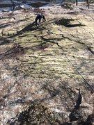 Rock Climbing Photo: Will making his way up.