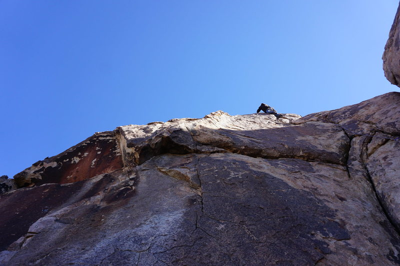Rock Climbing Photo: Mike Lagueux high on The Chief.