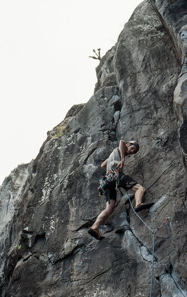 Rock Climbing Photo: chris climbing Pig Tree