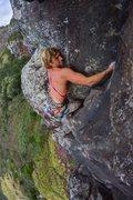 Rock Climbing Photo: Rob nearing the top