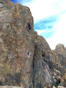 "Rock Climbing Photo: F.A. ""The Black Hole"" 5.10c 2/15/17"