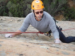 Rock Climbing Photo: Nearing the anchors on Route #9.