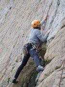 Rock Climbing Photo: Stemming the recess.