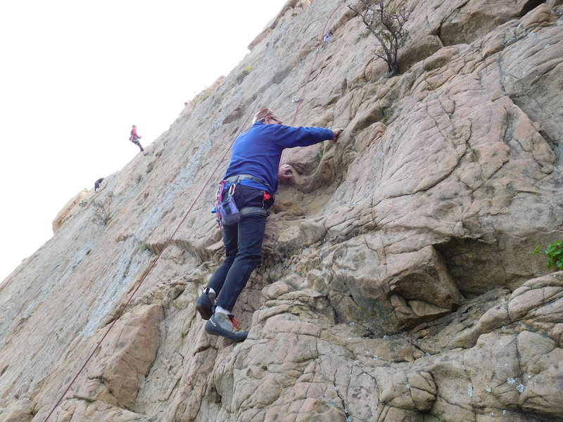 Rock Climbing Photo: Starting up Route #9.
