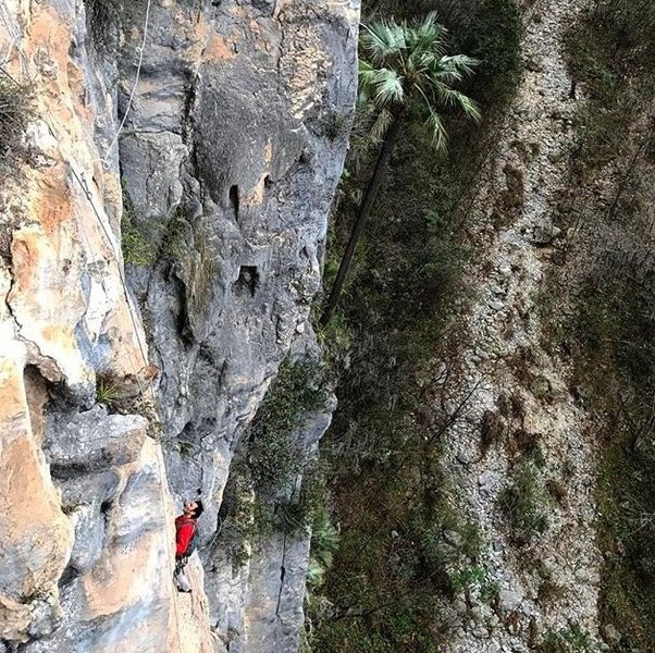 Rock Climbing Photo: Rodrigo on the upper pitch