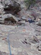 Rock Climbing Photo: Looking down the Chopping Block.