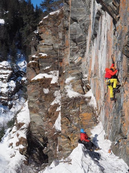 Rock Climbing Photo: Tim Stephens headed up another sport route at the ...