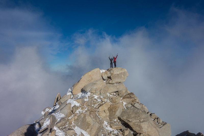 Rock Climbing Photo: Vitaliy and Garrett on top of Fitz Roy's summi...