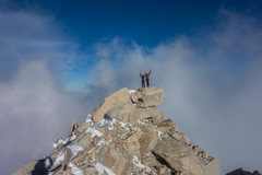 Vitaliy and Garrett on top of Fitz Roy's summit