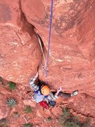 Rock Climbing Photo: Garth on the upper half of the route.