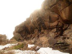 Rock Climbing Photo: Anybody ever climb this thing?! It's behind yo...