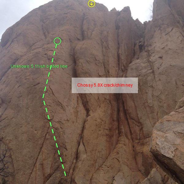 Rock Climbing Photo: Unknown choss chimney