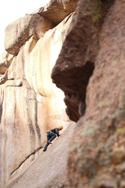 Rock Climbing Photo: Andy slabbing it.