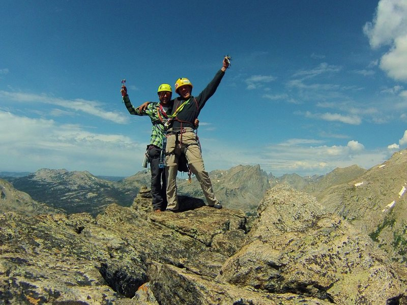 Rock Climbing Photo: Topping out on the haystack!