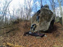 Rock Climbing Photo: Timelapse layered photos